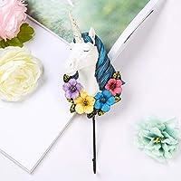 Winpavo Ornaments Sculpture Statues Creative European Home Soft Decoration Unicorn Hook Room Coat Rack Hook A
