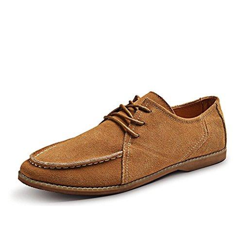 Heart&M casual décolletée homme givré chaussures en cuir suédé Brown