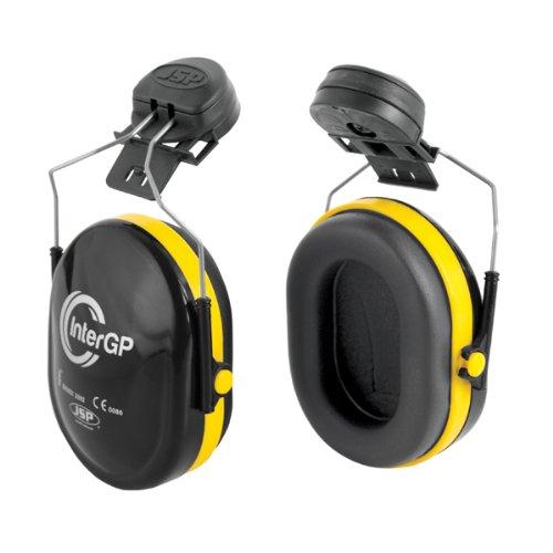 JSP AEK010-005-300 InterGP Gehörschutz, Befestigung an Helmen, Schwarz/Gelb