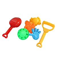 Large 7 Pieces Unique Kids Games Seaside Beach Sand Toy Play Learning Educational Toy Sandbox Toys Hobbies Shovel(Color:random)