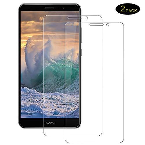 DOSMUNG [2 Stück Huawei Mate 9 Panzerglasfolie, Huawei Mate 9 Panzerglas Schutzfolie [9H Härte] [2.5D Rand] [Blasenfrei] [HD Klar] Bildschirmschutzfolie für Mate 9