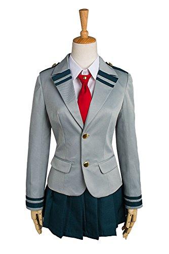 Boku no Hero Academia My Hero Academia Tsuyu School Uniform Cosplay Kostüm Damen S