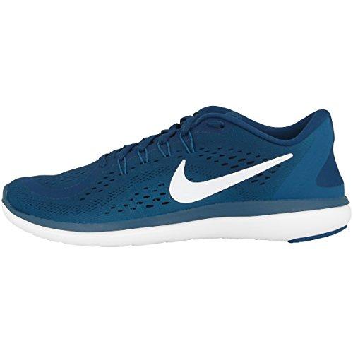 Nike Herren Flex 2017 RN Laufschuhe, Blau (Blue Force/White/Green Abyss/b 405), 46 EU (Ferse Der Mitte Blau)