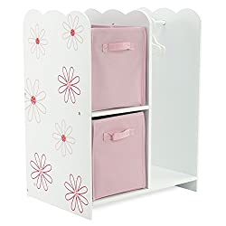 18 Inch Doll Storage Clothes Open Wardrobe Furniture Fits 18