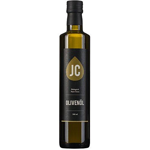 JC Olivenöl BIO Nativ Extra - In 3 Größen erhältlich (500ml, 3 Liter, 5 Liter) Neue Ernte - DE-ÖKO-009