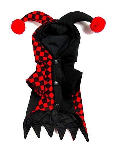 LBX Haustier Halloween Clown Kostüm Dickes Polyester-Material Dauerhaft Einfach Zu Säubern Lustige Kostüme des Herbstes Und des Winters Mit Hüten (Halloween-kostüme Hüten Mit)