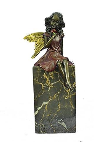 Sculpture en bronze à la main Bronze Statue Valentine Ange