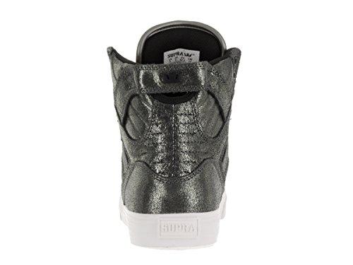 SUPRA Skateboard Shoes SKYTOP PEWTER METALIC-WHITE PEWTER METALIC-WHITE