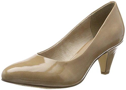Tamaris Damen 22416 Pumps, Beige (Nude Patent), 38 EU (Leder Beige Schuhe)