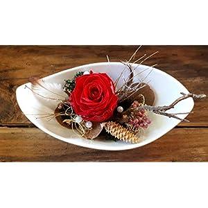Gesteck mit gefriergetrockneter Rose, Geschenk, Dekoration, Deko