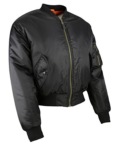 Kombat UK- Chaqueta bómber MA1, Hombre, Color Negro, tamaño Medium