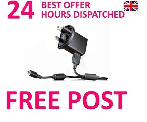 100% Genuine Sony Ericsson EP800 GreenHeart 3 Pin Mains Charger & EC-700  Micro USB Data Cable Suitable For Xperia Arc X12  Xperia Neo, Xperia Play