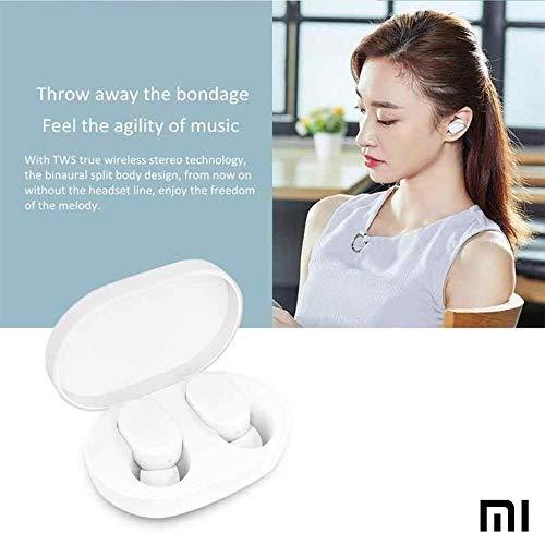 Xiaomi Mi Airdots Kabellose Kopfhörer, Bluetooth 5.0 - automatische Verbindung (Stereo) 12h Geräuschunterdrückung, Touch-Tasten, tragbares Ladegerät, CE-Zertifiziert (iOS & Android) weiß - 3