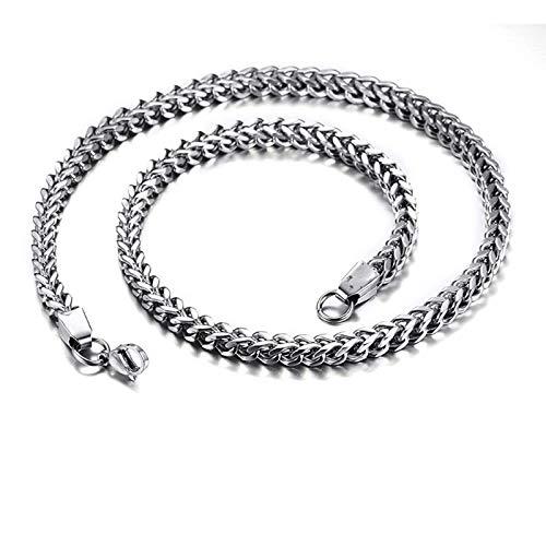 g Silber Halskette Herren ohne Anhänger Popcorn-Kette Silber Kette Partnerketten für Männer 70CM ()