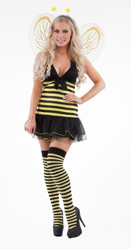 Bumble Bee Miss Bienen-Kostüm, Größe M (Bumble Bee Erwachsene Fancy Dress)