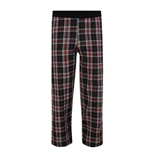 BOYS-PYJAMA-BOTTOMS-LOUNGE-PANTS-COTTON-EX-STORE-CHECKED-7-14-YEARS