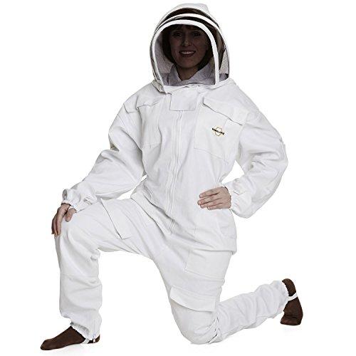 Traje de Apicultura, algodón, Blanco, niño