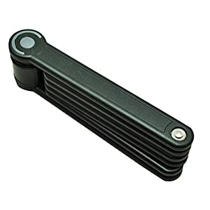 tfxwerws plegable para bicicleta candado de alta resistencia candado para bicicleta Anti-thief 6articulaciones (negro)