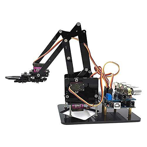 Hifuture roboterarm arduino,DIY Roboterarm 4-dof Roboter Griff Mechanischer Arm Für Arduino,Bewegungsgelenke Flexibel Robust (Roboter-diy)