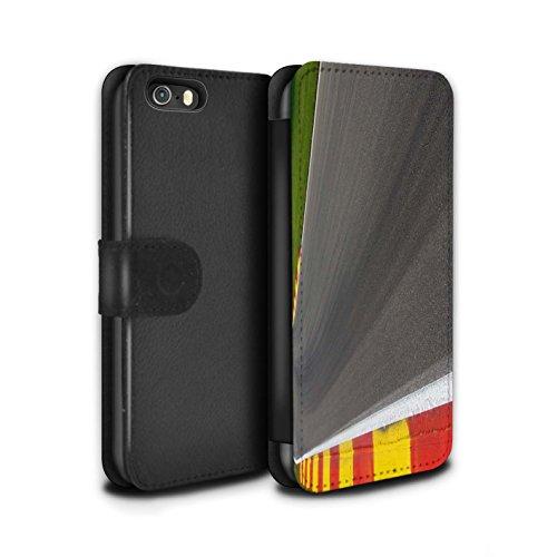 Stuff4 Coque/Etui/Housse Cuir PU Case/Cover pour Apple iPhone 5/5S / Pack 5pcs Design / Piste Course Photo Collection Asphalte/Macadam