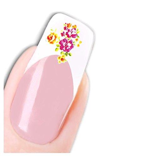 Just Fox - Stickers pour ongles Nail art autocollants pour le Japon Manga Flower papillon water decal
