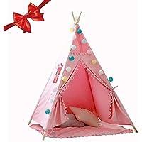 sunronal Teepee Interior Niño Bebé Lienzo Tiny Land für Kinder Play para Estera del Piso Indian Decoración del hogar