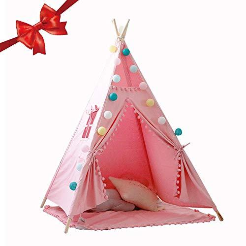 Indisches Tipi Spielzelt Für Mädchen Pompon Ball Design Luxus Spitze Indisches Zelt Kinder Spielhaus Für Innenspitze
