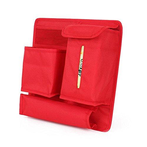 Preisvergleich Produktbild Auto-Sitz zurück Hängender Beutel Mehrfach-Taschen-Auto-Sitz-Rückseiten-Organisator-Speicher-Halter-Beutel , red , 31*31cm