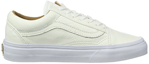 Vans Old Skool, Baskets Basses Mixte Adulte Blanc Cassé (premium Leather)