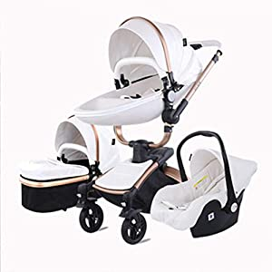 Stroller, Two-Way SUV-Class Stroller, High-Profile Light Folding Baby Four-Wheeled Cart   6