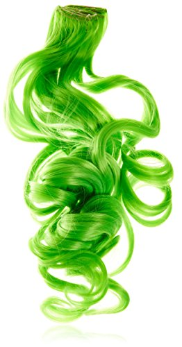 BiYa Hair Elements Extensions de cheveux Thermatt Mèches bouclées Vert foncé 50,8 cm 60 g