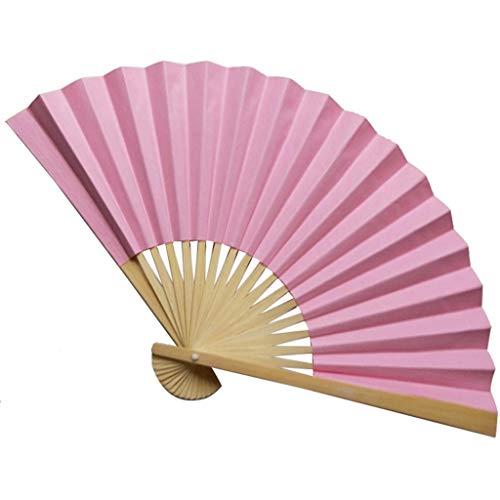 Katze Kostüm Ägyptischen - Kviklo Handfächer Folding Papierfächer Fächer Feste Ebene Bambus Kostüm Party Hochzeit Chinesisch/Japanisch Fan Dekorationen(Rosa,23cm)