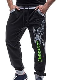 Tangda Herren Hosen Männer Casual Hose elastische Taille Lange Baumwolle Hose Freizeithose Sport Hosen Größe M L XL XXL - Farbe Wählbar
