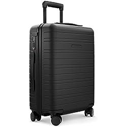 HORIZN STUDIOS H5 Bagage Cabine | Bagage à Main Valise | Coque Rigide, 55 cm, 35 L, 4 roulettes (Tout Noir)