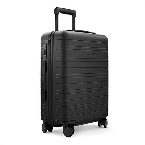 HORIZN STUDIOS H5 Handgepäck | Kabinen Trolley Koffer | Hartschale 55 cm, 35 L, mit 4 Rollen und TSA Schloss, Schwarz (All Black)