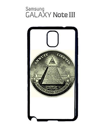 Illuminati Pyramid Eye Masonic Masons Symbols Dollars Mobile Phone Case Samsung Note 3 White Noir