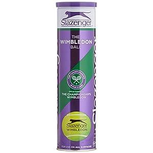 Slazenger Wimbledon Tennis Balls–Tube von 4ITF Approved Balls (lila Tube)