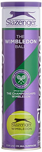 Slazenger Wimbledon Tennis Balls - Tube of 4 ITF Approved Balls (Purple Tube)