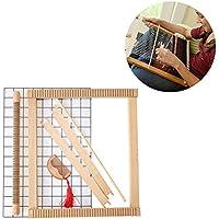Jannyshop Multi-Craft Madera Tejer Telar Kit de Tejer Bricolaje 16.06 * 13.78inch Contiene 6 Cosas
