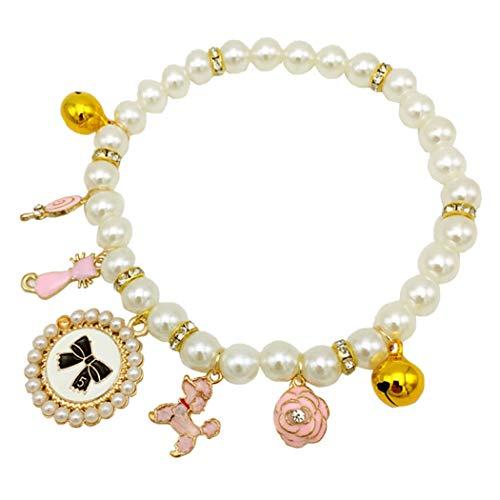 Legendog Hundehalskette Mode Niedlichen Charme Perle Haustier Halskette Katze Kragen Halskette