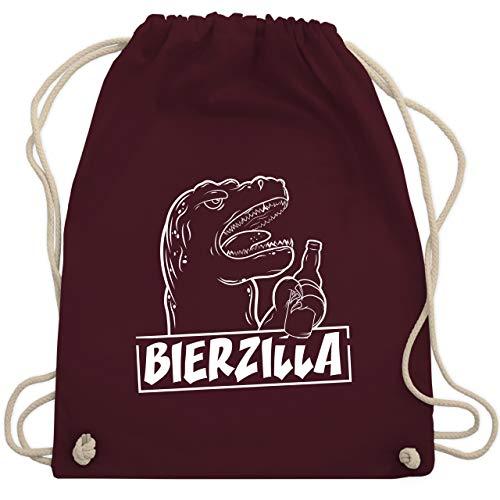 Halloween - Bierzilla - Unisize - Bordeauxrot - WM110 - Turnbeutel & Gym Bag (Gruppe Alkohol Halloween Kostüme)