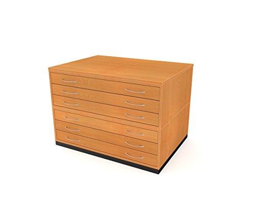 Traditionelle A16Schublade Plan Brust Buche Papier Aufbewahrung Schrank mit sechs Schubladen für Papier der A1 (Brust Buche Schubladen)