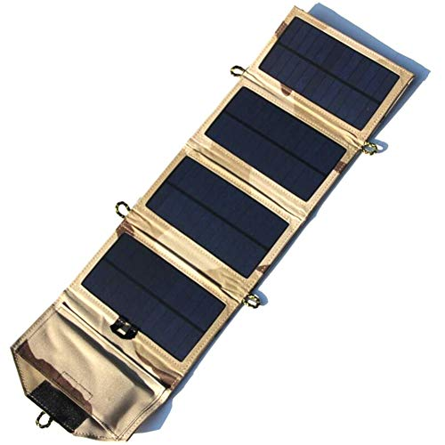 JAYLONG 7W Faltbare Solar-Panel, Tragbare 5V-Sicherheits-Solar-Ladegeräte Für Outdoor-Handys Aufladen Und Andere Moblie-Geräte,Beige - Portable-rv-generator