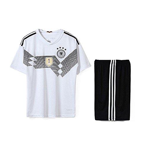 SODIAL Familie Breathable Sportbekleidung Fussball Set WM Deutschland Fussball Trikots Uniformen Fussball Kit Shirt Trainingsanzug(Mann,S)