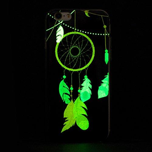 Coque Housse pour iPhone 6/6S, iPhone 6S Coque Silicone Ultra Mince Etui Combo Housse, iPhone 6 TPU Coque Soft Etui en Silicone,iPhone 6/6S Silicone Transparent Case TPU Cover, Ukayfe Etui de Protecti Noctilucent-Campanule