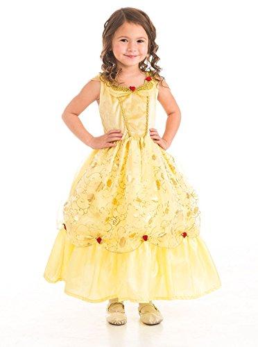 Little Adventures Wenig Abenteuer Traditionellen Gelb Beauty Mädchen Prinzessin Kostüm–groß (5–7Jahre) (Disney Verbundenen Kostüme)