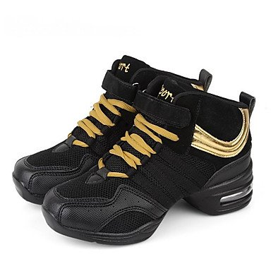 Zapatillas De Baile-no Personalizables-women's-modern-square-fabric-black / Golden Black