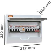 Caja distribucion electrica Superficie IP30 de 12 modulos Blanco, Cablepelado®