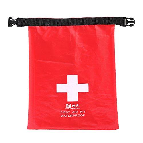 wasserdichte Trockenbeutel Erste Hilfe Tasche Outdoor Dry Bag Beutel Sack Trockentasche Seesack Survival Bag für Kajak Kanu Segeln Angeln Camping Schwimmen Strand Snowboarden