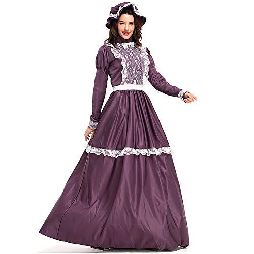 SHIXUE Halloween Cosplay Kostüm Kostüm Anzug Party Kostüm Für Erwachsene Landgut Inklusive Hüte Und Röcke,XXL